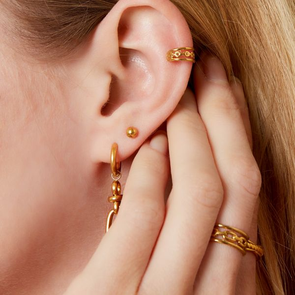 Triple earcuff in chain style