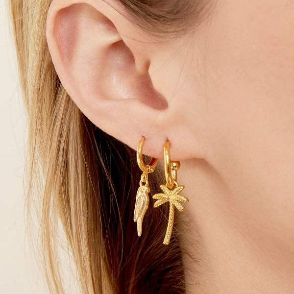 Earrings beachy palm