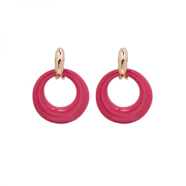 Boucles d'oreilles stylish color rounds