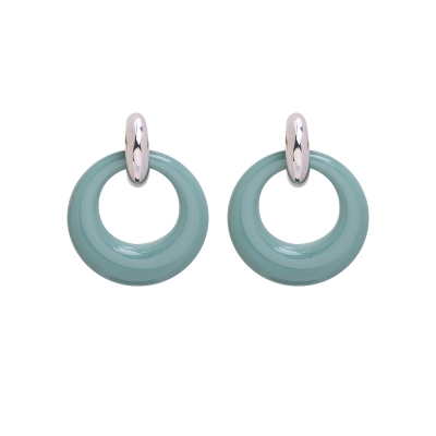 Earrings Stylish Color Rounds