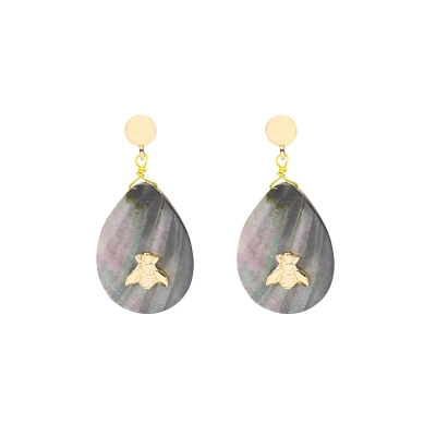Boucles d'oreilles Sea Shell and Bee