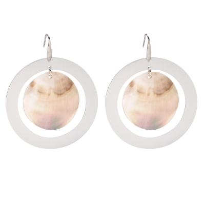 Earrings Shell Galaxy
