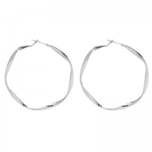 Earrings Twirl Hoops