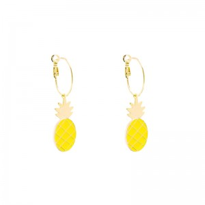 Oorbellen Dangle Pineapple