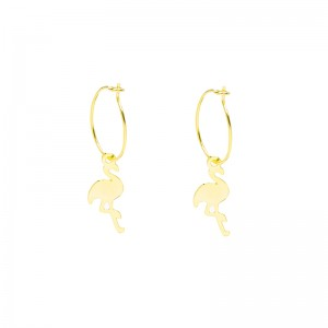 Earrings Basic Flamingo