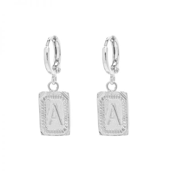 Antique Earrings Initial A
