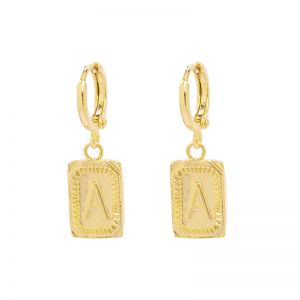 Earrings Antique Initial A