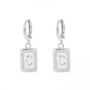 Earrings Antique Initial C