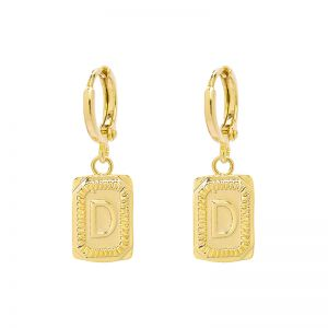 Earrings Antique Initial D
