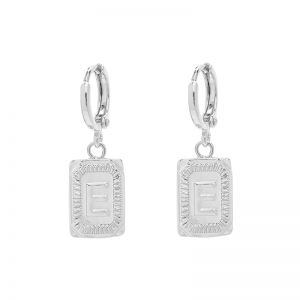 Earrings Antique Initial E