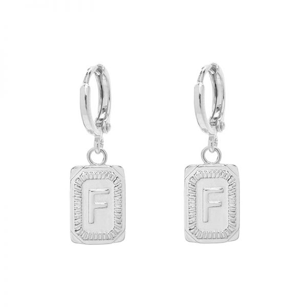 Antique Earrings Initial F