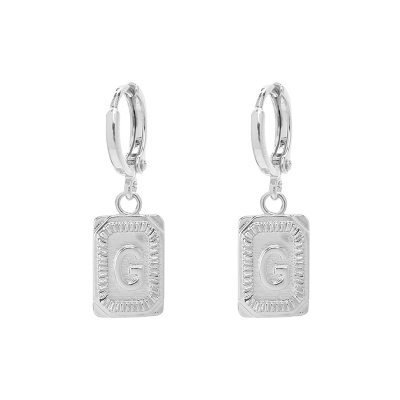 Earrings Antique Initial G
