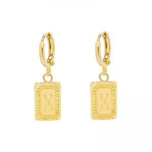 Earrings Antique Initial K