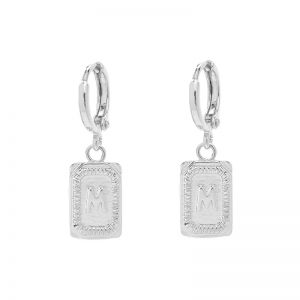 Earrings Antique Initial M