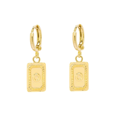 Earrings Antique Initial O