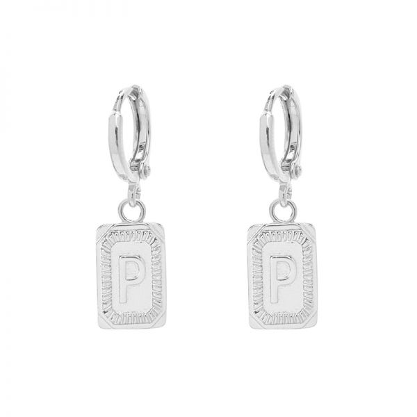 Antique Earrings Initial P