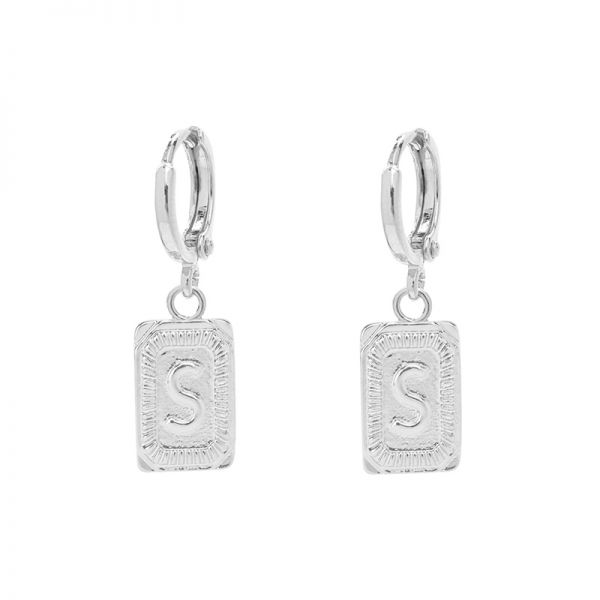 Antique Earrings Initial S
