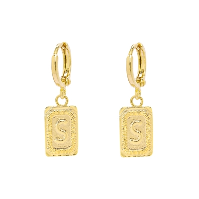 Earrings Antique Initial S