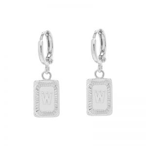 Earrings antique initial w