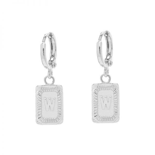 Antique Earrings Initial W