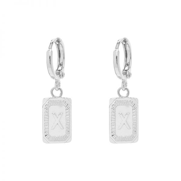 Antique earrings initial x