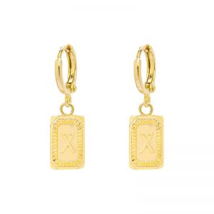 Earrings Antique Initial X