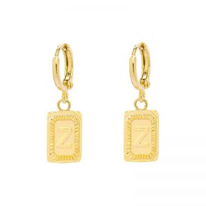 Earrings antique initial z
