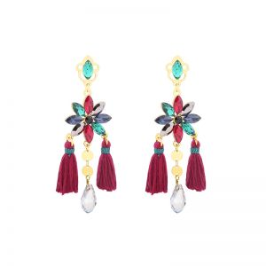 Earrings Flower Stone