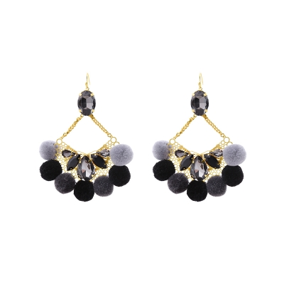 Earrings Pompon Glam