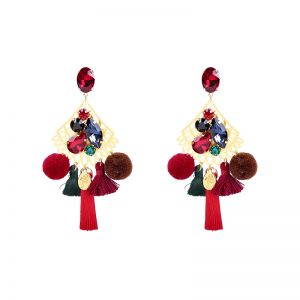 Earrings Pompon Style