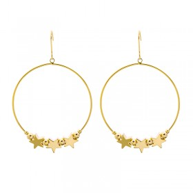 Earrings Star Hoop