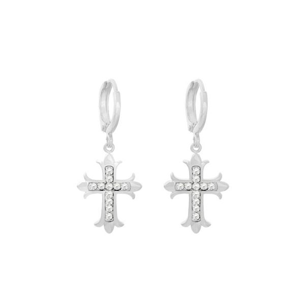 Earrings holy cross