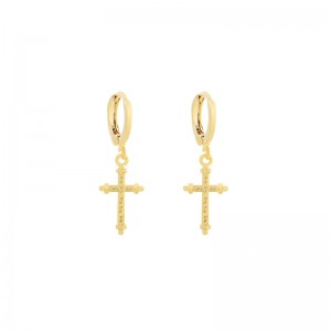 Earrings Classic Cross