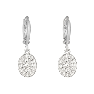 Earrings Oval Coin