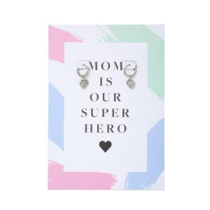 Earrings Postcard Mom Superhero