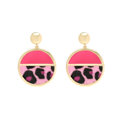 Earrings Ladybug Leopard