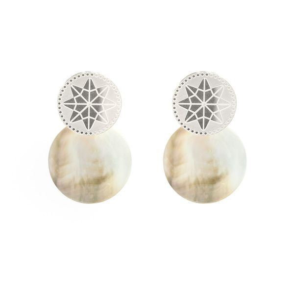 Earrings shell star
