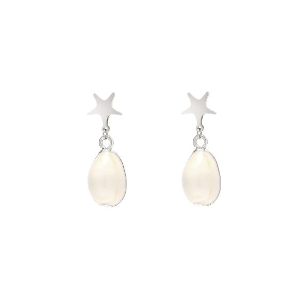 Earrings elegant ocean star