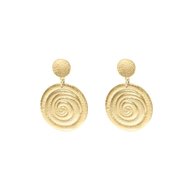 Earrings Golden Vortex