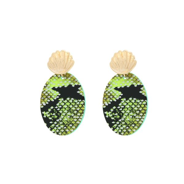 Earrings Snake in a Shell
