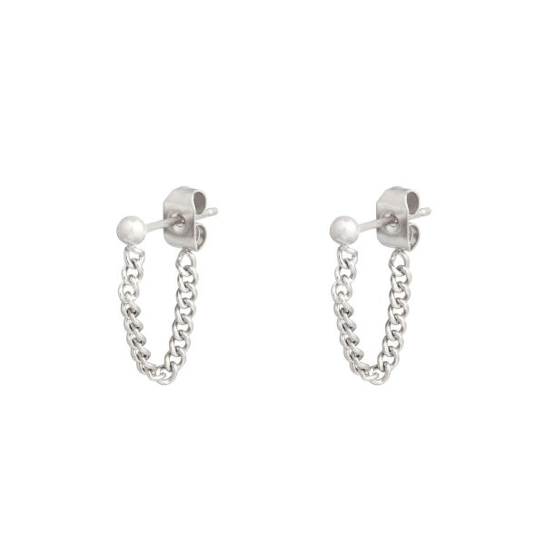Boucles d'oreilles Stud and Chain