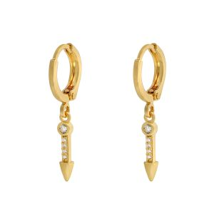 Earrings Zirconia Arrow