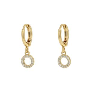 Earrings Sparkling Circle