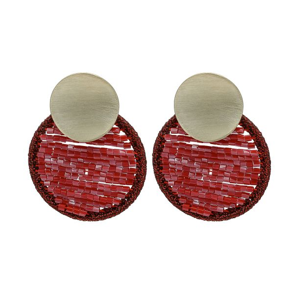 Earrings circle beads