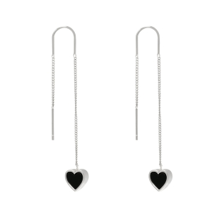 Earrings Dangle -  Hearts