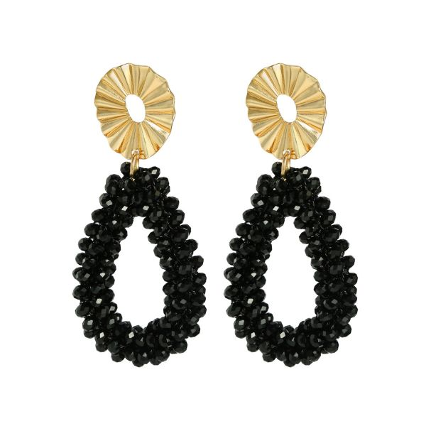 Earrings crystal hoops