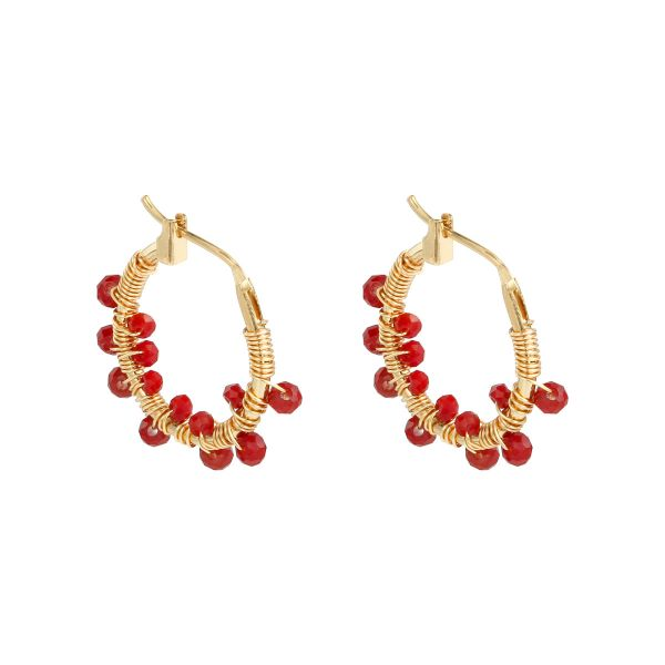Earrings colorful crystal beads