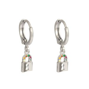 Boucles d'oreilles lock your heart