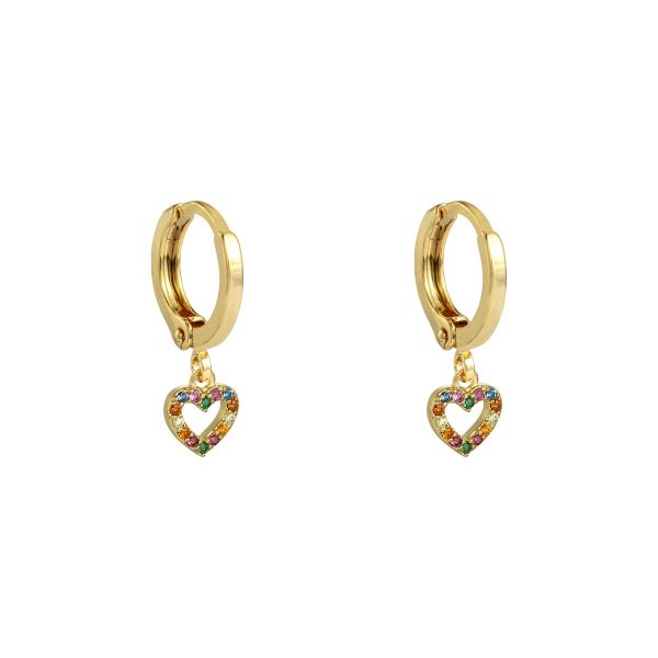 Earrings Zirconia Heart