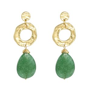 Earrings charming stone